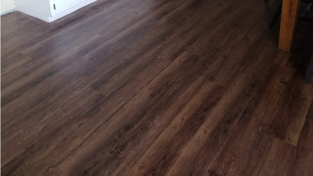 picture of new floors at San Angelo Service Center