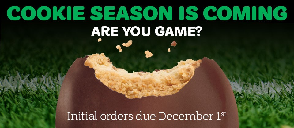 Initial Cookie Orders Due Dec. 1!