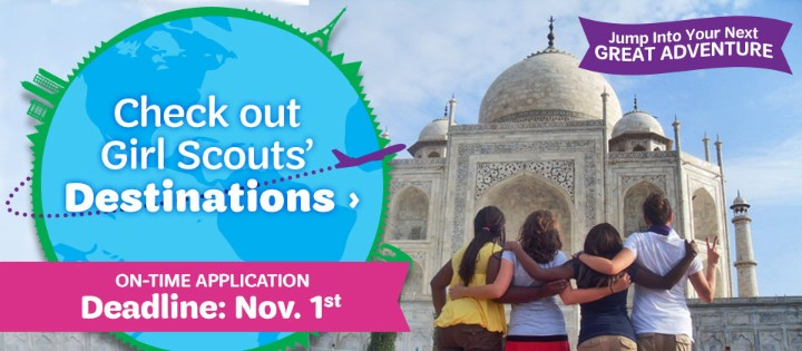 Destinations Deadline - Nov 1