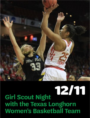 Girl Scout Night with the Texas Longhorn Women's Basketball Team, December 11