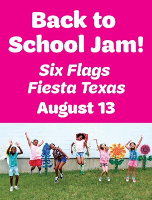 Back to School Jam at Six Flags Fiesta Texas on August 13