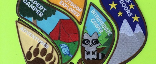 closeup of Outdoor Adventure Progression Patch