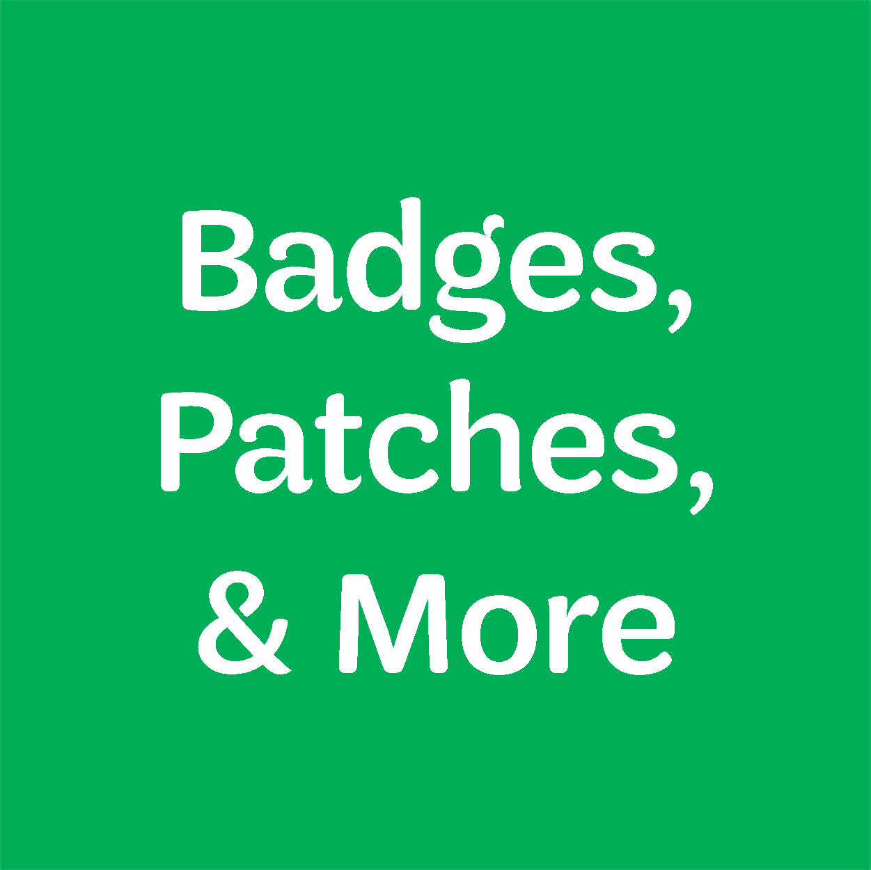 "Icon ""Badges, patches, and more"""